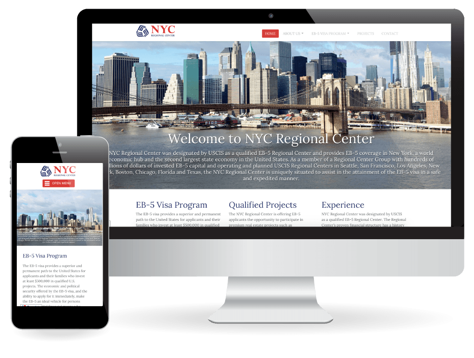 Website Design NYC Regional Center