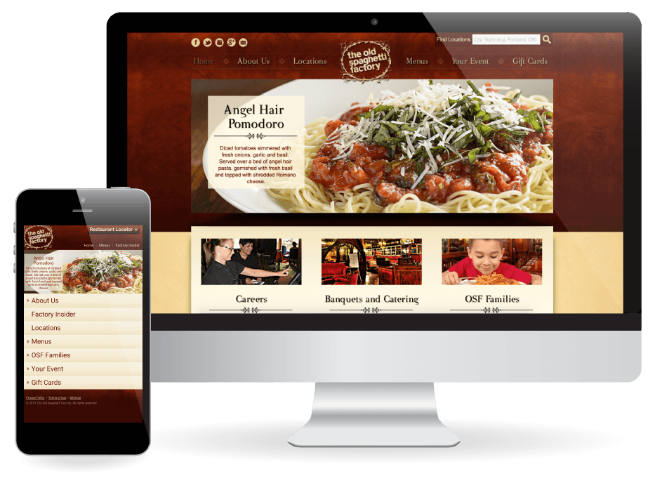 Website Design The Old Spaghetti Factory